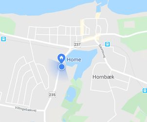 Hornbæk map - house location